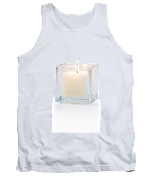 Burning Candle Side View 20 Degree Tank Top