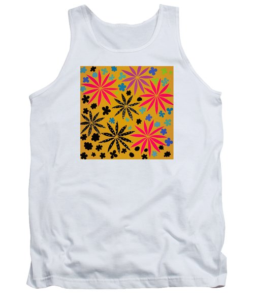 Tank Top featuring the mixed media Bursting Open by Gloria Rothrock