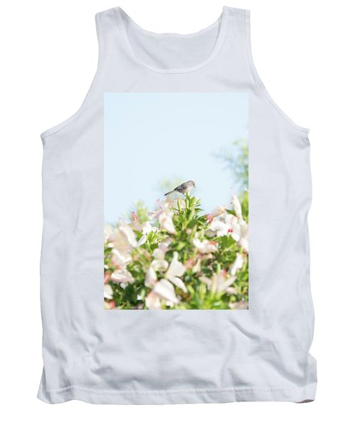 Bushtit Atop The Hibiscus Tank Top