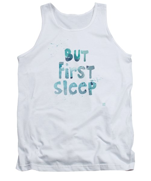 Tank Top featuring the painting But First Sleep by Linda Woods