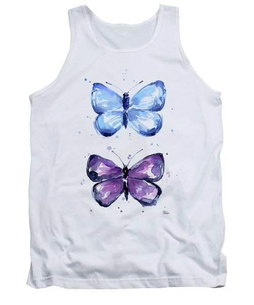 Butterflies Blue And Purple  Tank Top