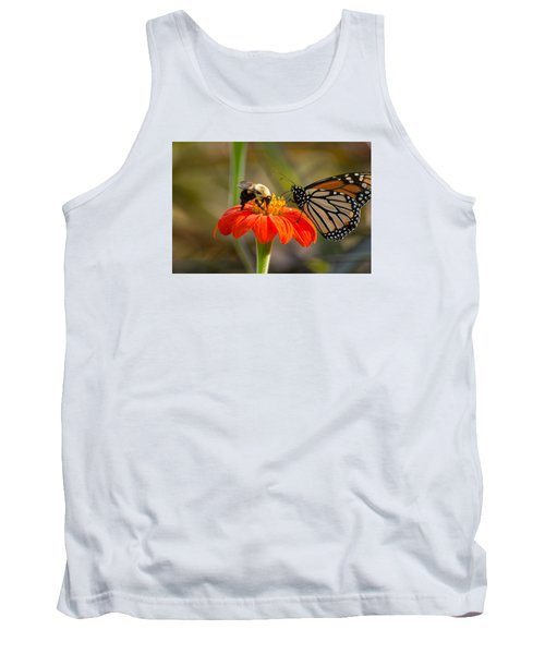 Butterfly And Bumble Bee Tank Top