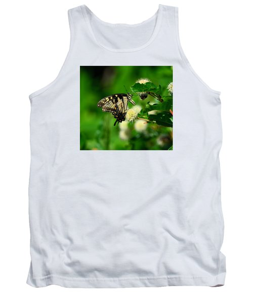 Butterfly And The Bee Sharing Tank Top by Kathy Eickenberg