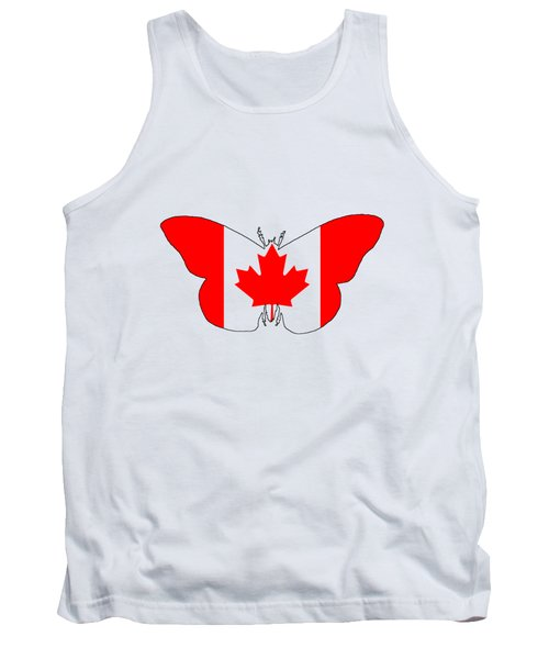 Butterfly Canada  Tank Top by Mordax Furittus