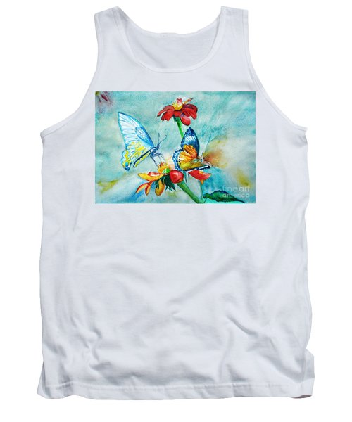 Butterfly Dance Tank Top by Jasna Dragun
