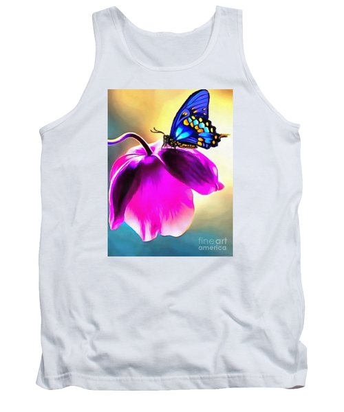 Butterfly Floral Tank Top