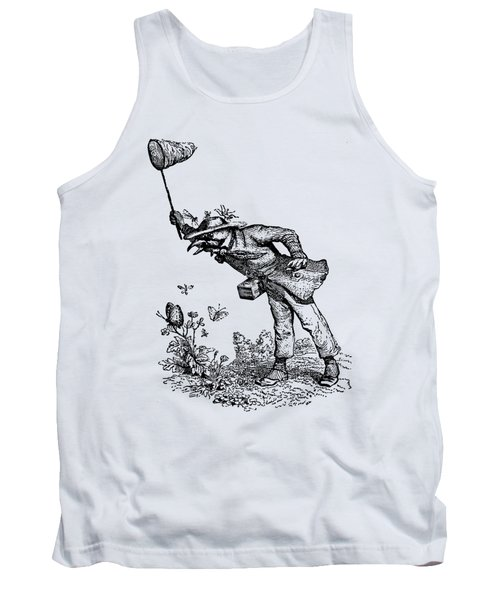 Butterfly Hunting Grandville Transparent Background Tank Top