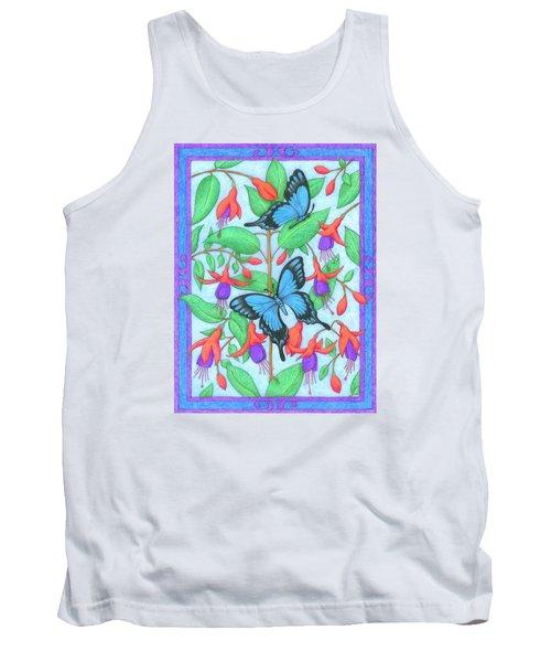 Butterfly Idyll-fuchsias Tank Top