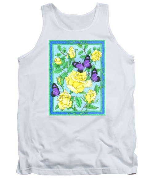 Butterfly Idyll-roses Tank Top