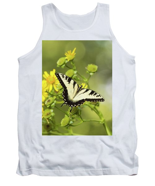 Butterfly On Yellow Tank Top