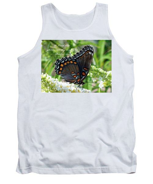 Butterfly Psalm 92 Scripture Tank Top