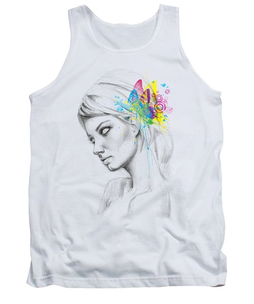 Butterfly Queen Tank Top by Olga Shvartsur