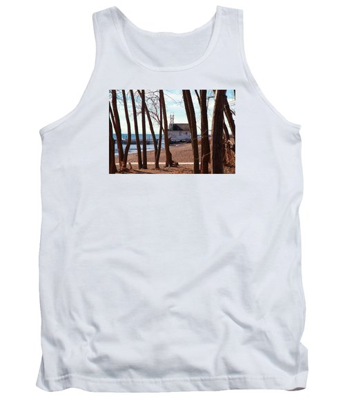 Tank Top featuring the photograph By The Lake by Valentino Visentini