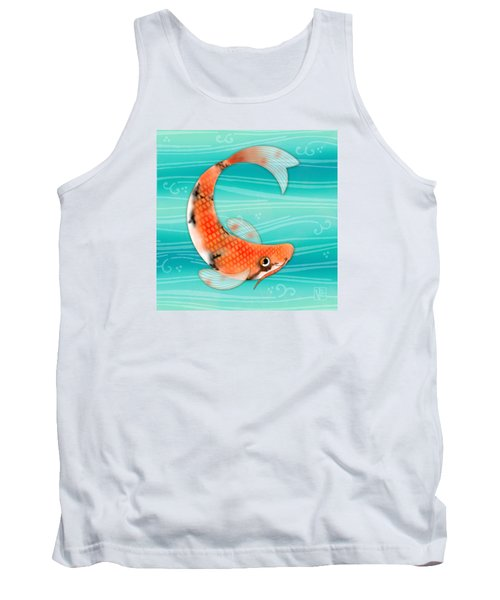 C Is For Cal The Curious Carp Tank Top