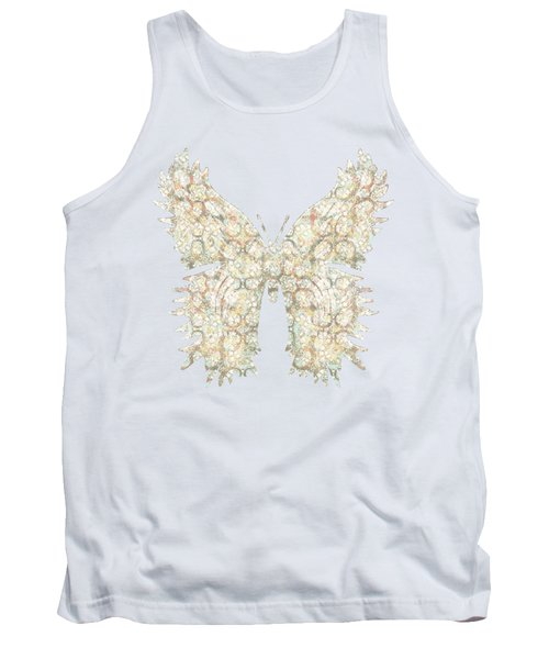 Cabbage Crackle White Tank Top