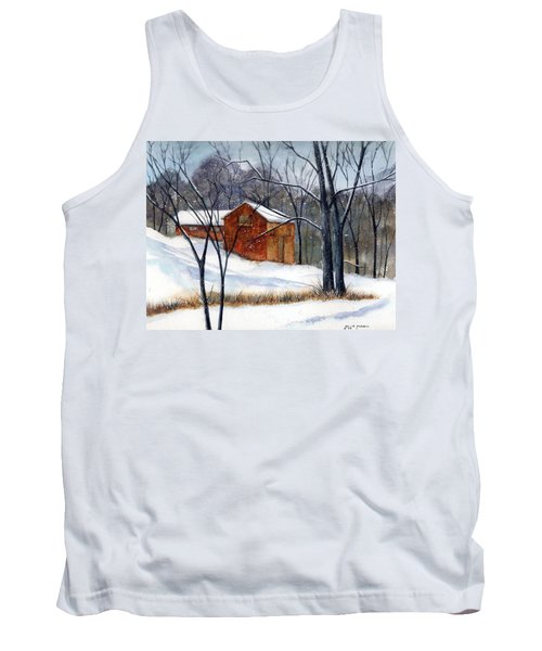Cabin In The Woods Tank Top by Debbie Lewis