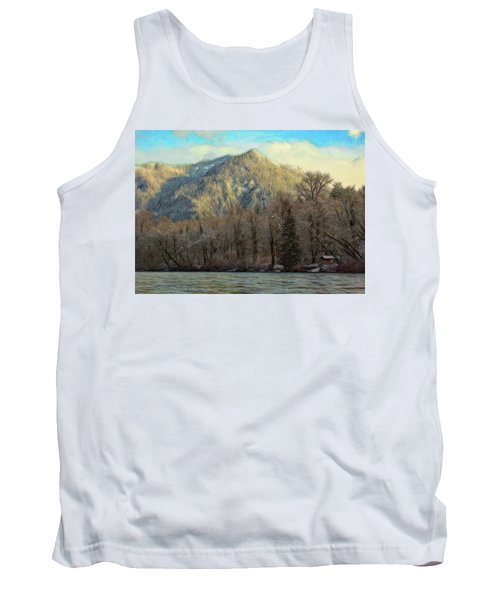 Cabin On The Skagit River Tank Top