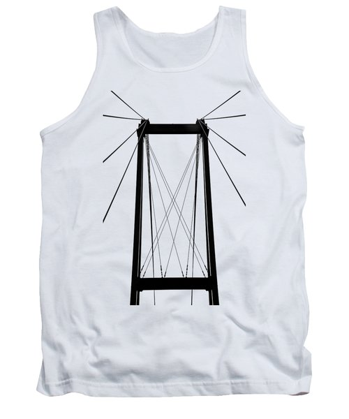 Cable Bridge Abstract Tank Top by Debbie Oppermann