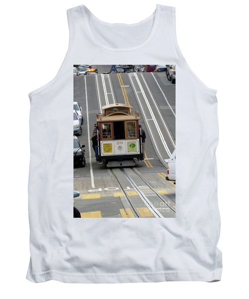 Tank Top featuring the photograph Cable Car by Steven Spak