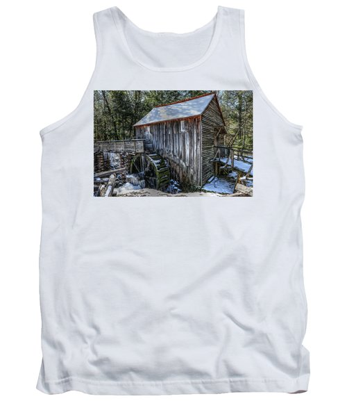 Cades Cove Grist Mill In Winter Tank Top