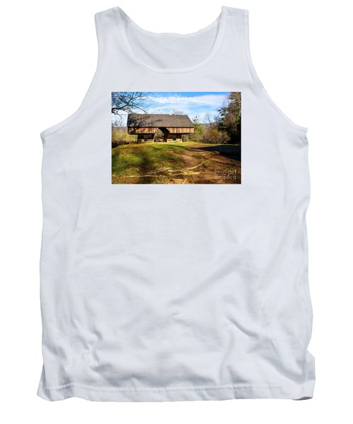 Cades Cover Cantilevered Barn Tank Top by Marilyn Carlyle Greiner