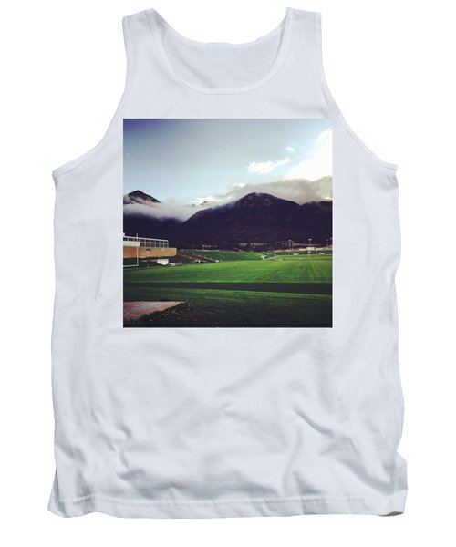 Tank Top featuring the photograph Cadet Athletic Fields by Christin Brodie