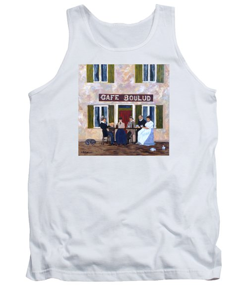 Cafe Boulud Tank Top by Diane Arlitt