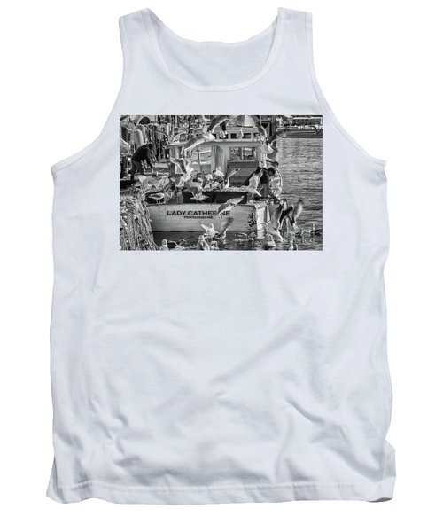Cafe Lady Catherine Black And White Tank Top