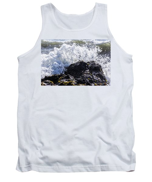 California Coast Wave Crash 4 Tank Top