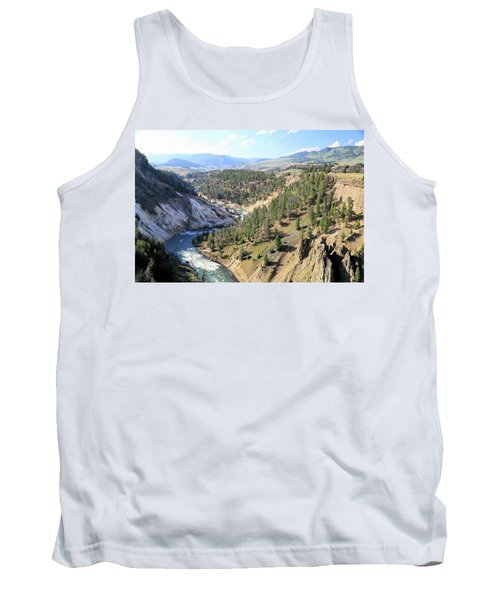 Calcite Springs Along The Bank Of The Yellowstone River Tank Top