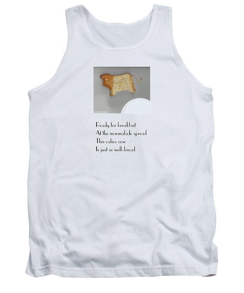 Tank Top featuring the digital art Calico Cow by Graham Harrop