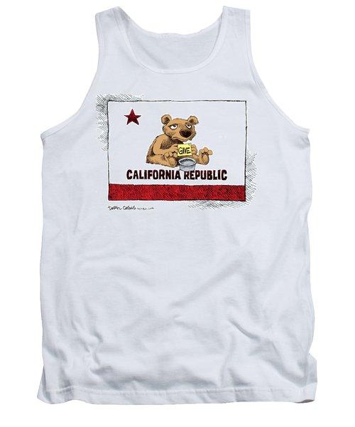 California Budget Begging Tank Top