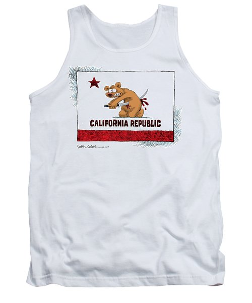 California Budget Harakiri Tank Top