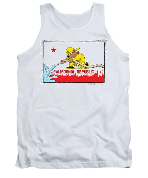 California Firefighter Flag Tank Top