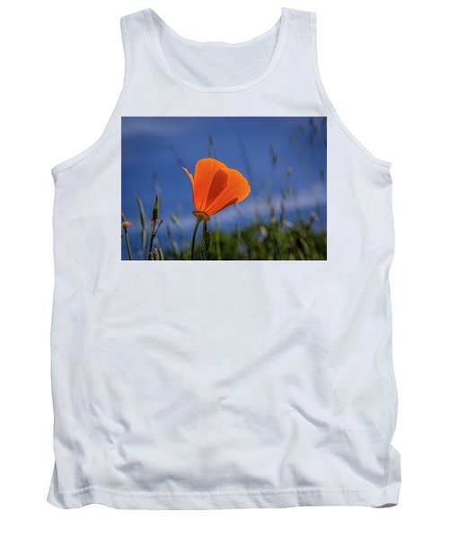 California Poppy Tank Top by Marc Crumpler