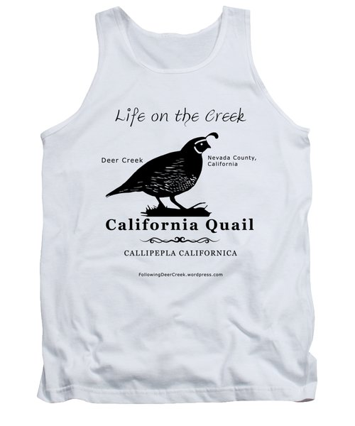 California Quail - White Tank Top
