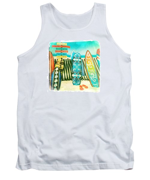 California Surfboards Tank Top by Nina Prommer