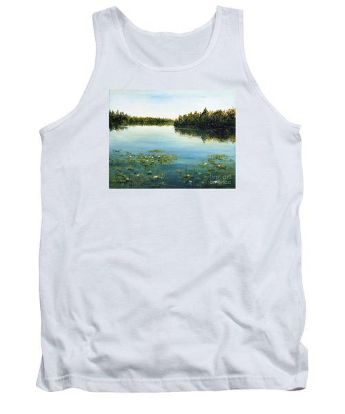 Tank Top featuring the painting Calm by Arturas Slapsys