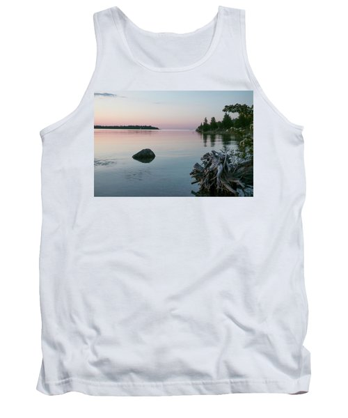 Calm Water At Lake Huron Crystal Point Tank Top by Kelly Hazel