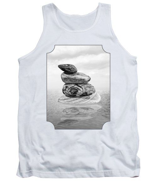 Calm Waters In Black And White Tank Top