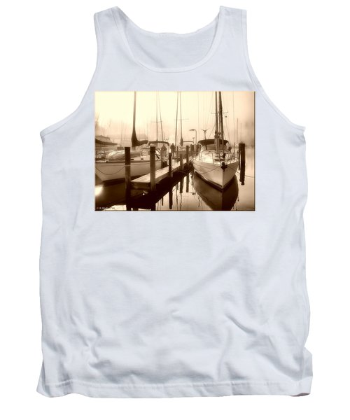 Tank Top featuring the photograph Calmly Docked by Brian Wallace