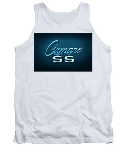 Tank Top featuring the photograph Camaro S S Emblem by Mike McGlothlen