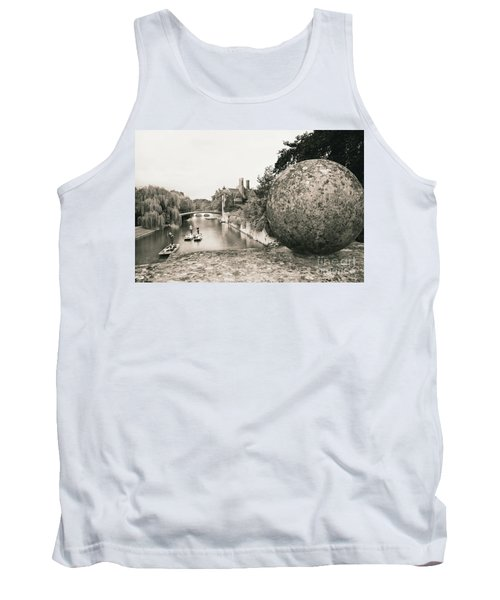 Tank Top featuring the photograph Cambridge Punting  by Eden Baed
