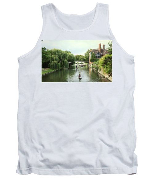 Tank Top featuring the photograph Cambridge River Punting by Eden Baed