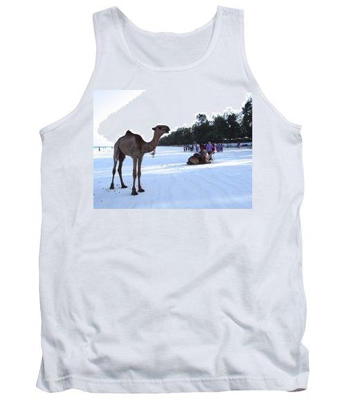 Camel On Beach Kenya Wedding 5 Tank Top