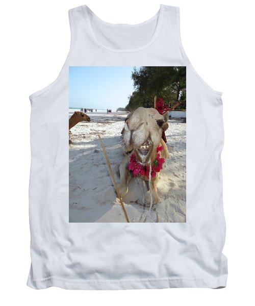 Camel On Beach Kenya Wedding2 Tank Top