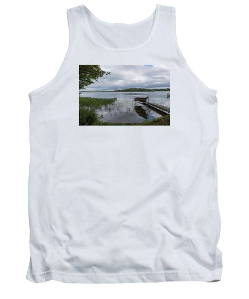 Camelot Island From Wilderness Point Tank Top by Gary Eason