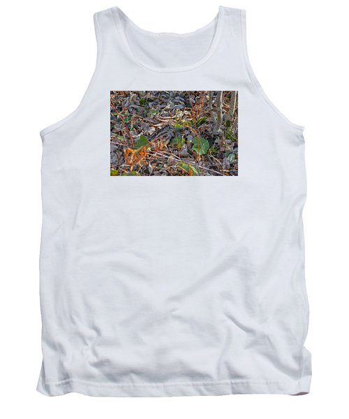 Camouflaged Plumage With Fallen Leaves Tank Top by Asbed Iskedjian