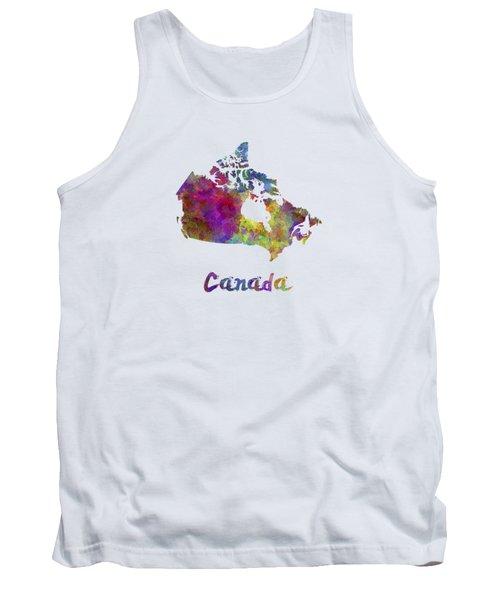 Canada In Watercolor Tank Top