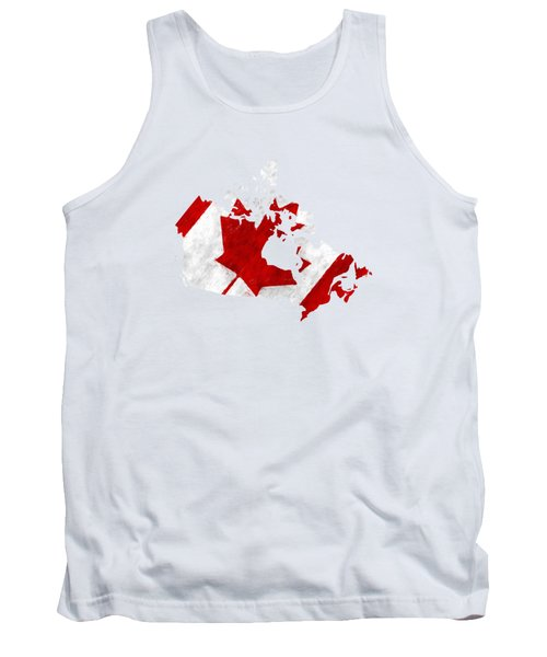 Canada Map Art With Flag Design Tank Top